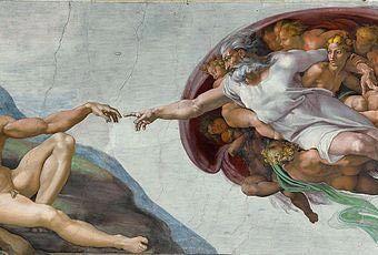 La creación de Adán. Miguel Ángel Buonarroti