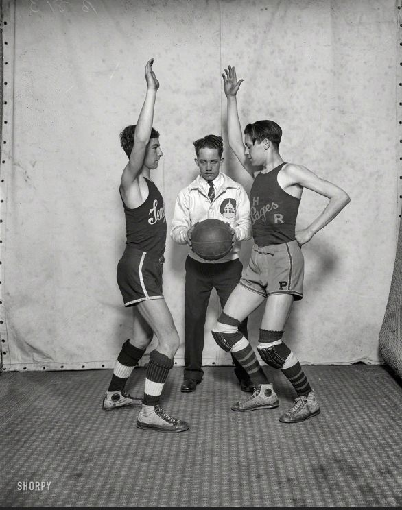 "Washington, D.C., 1927. ""Congressional pages -- Senate-House basketball."""
