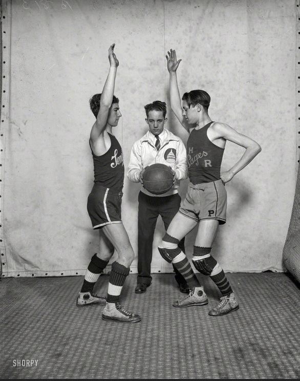 "Washington, D.C., 1927. ""Congressional pages -- Senate-House basketball."""