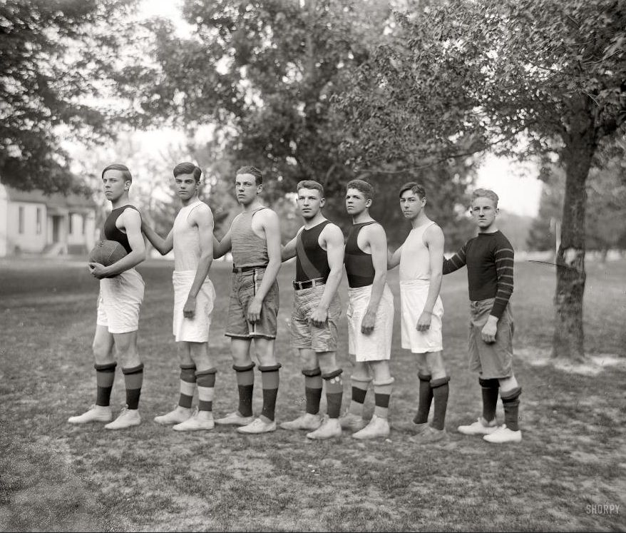 "St. Mary's County, Maryland. 1920. ""Charlotte Hall Military Academy basketball."""