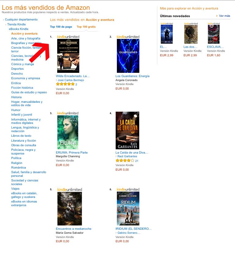 WILDE ENCADENADO Numero 1 en AMAZON