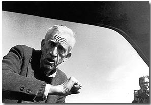 JD Salinger golpeando el coche de un periodista