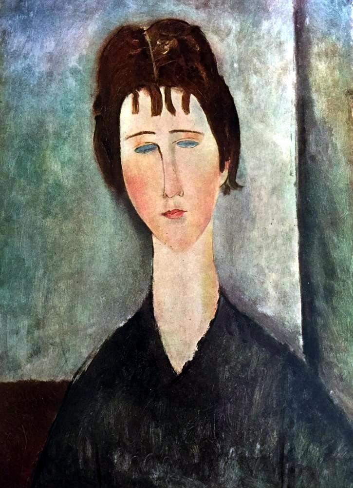 Girl with Brown Hair. Modigliani