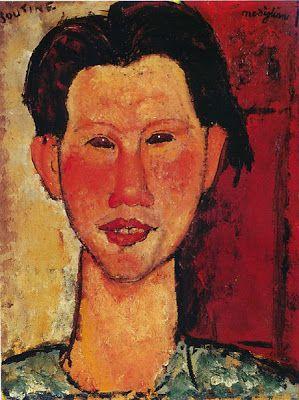 Retrato Chaim Soutine, amigo de Modigliani-