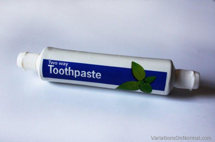 El tubo de pasta de dientes aprovechable