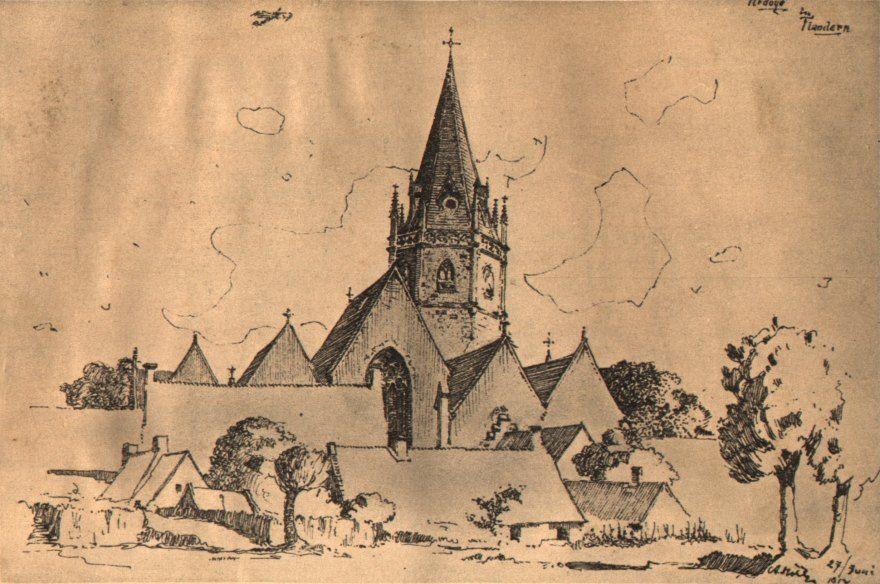 Iglesia de Ardoye Flandes. 1917