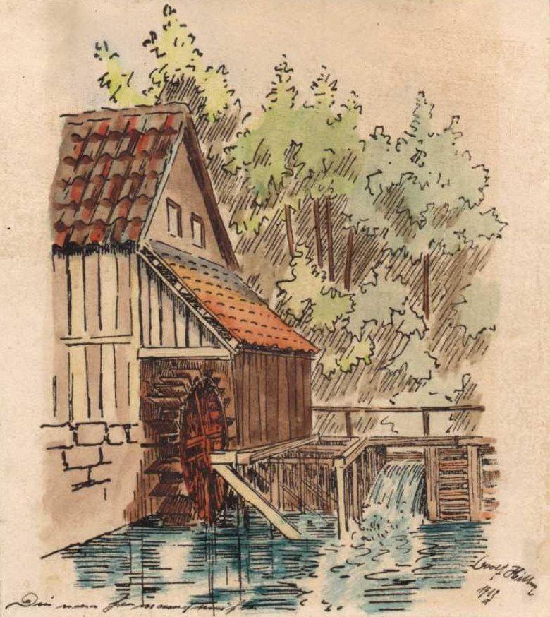 la casa del molino de Herman 1912