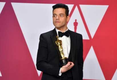 Rami Malek, interpretando a Freddie Mercury, ganó el Oscar por Bohemian Rapsody