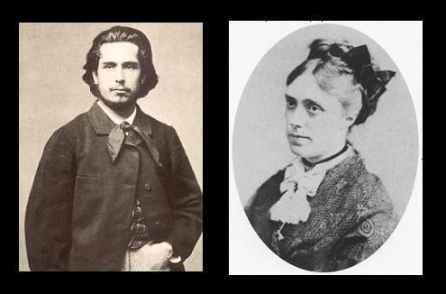 Claud Monet y Camille Doncieux en 1860
