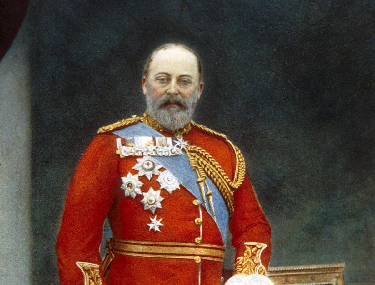 El rey Eduardo VII de Inglaterra