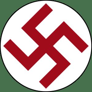 La cruz gamada del ejército de Letonia