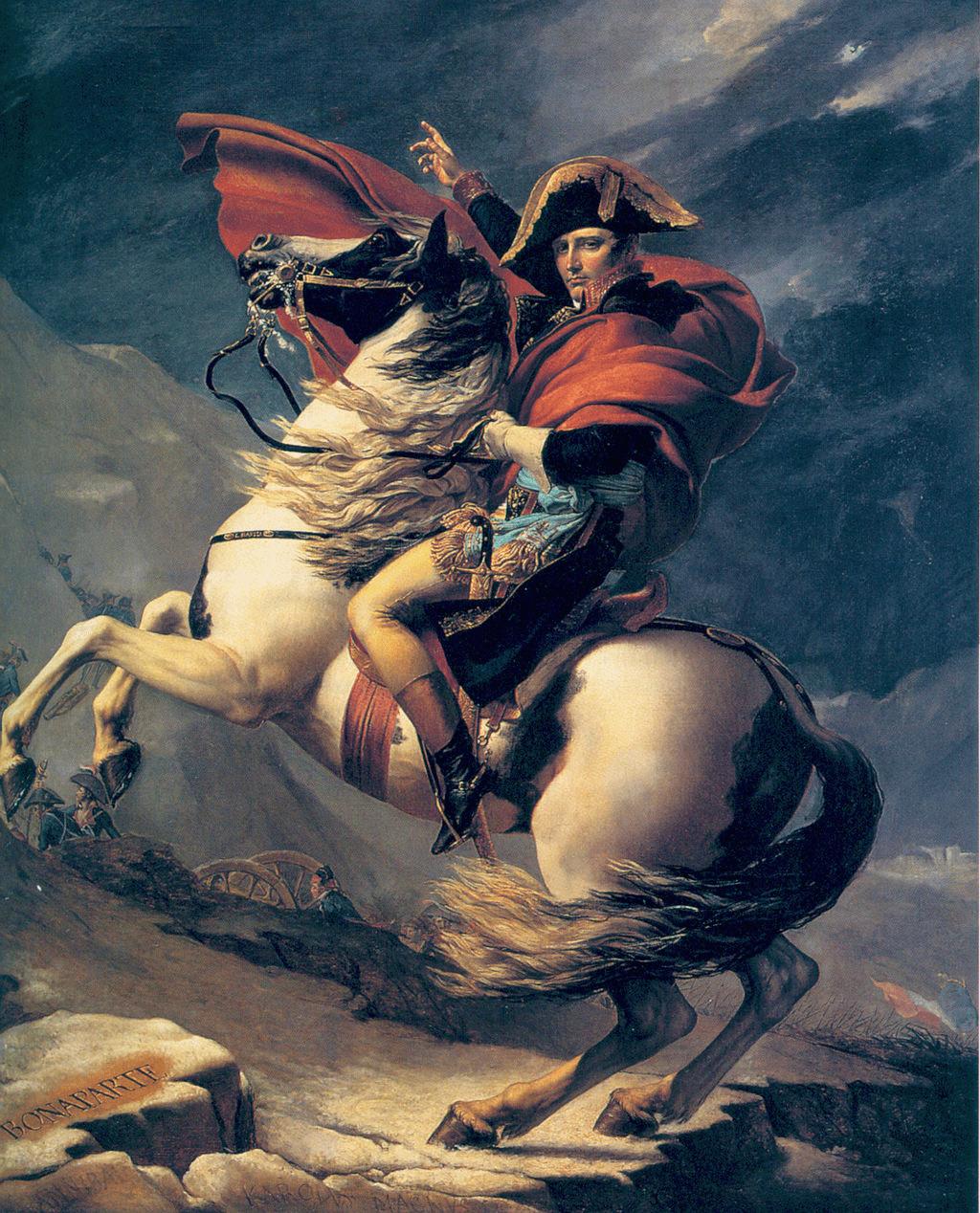 Napoleón cruzando los Alpes. Segunda Versión