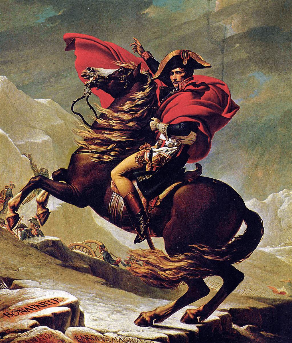 Napoleón cruzando los Alpes. Versión definitiva