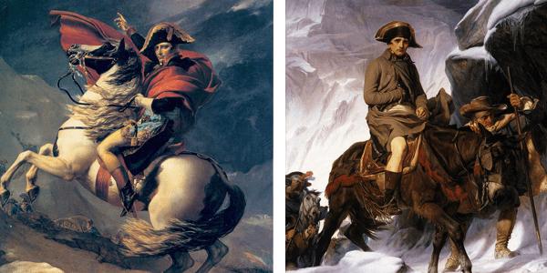Napoleón cruzando los Alpes: entre el arte y la propaganda