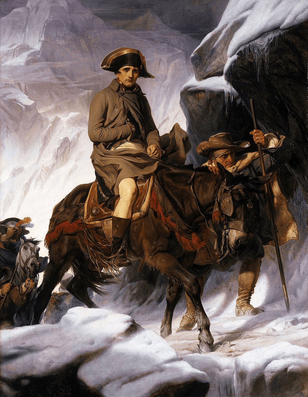 Napoleón cruzando los Alpes. Versión de Paul Delaroche