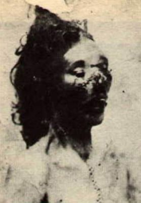 foto policial de la autopsia de Catherine Eddowes