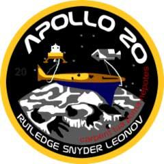 La insignia de la expedición Apolo 20 que no existió