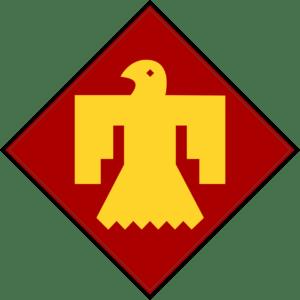 insignia renovada de la 45 division thunderbird