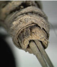herramienta tatuaje. arqueología