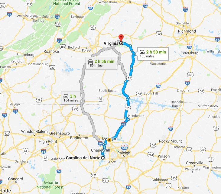 De Virginia a Carolina, el viaje del esclavo Brown
