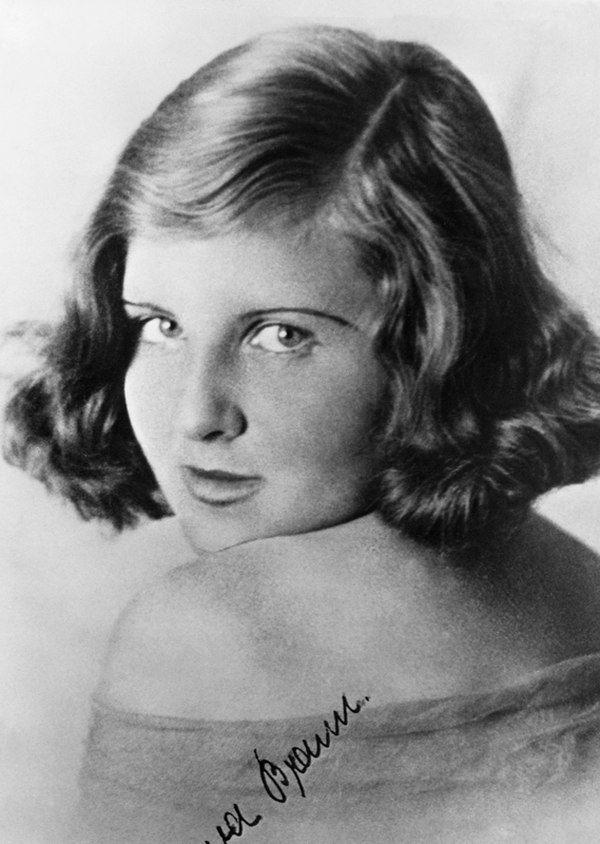 Eva Braun en su juventud