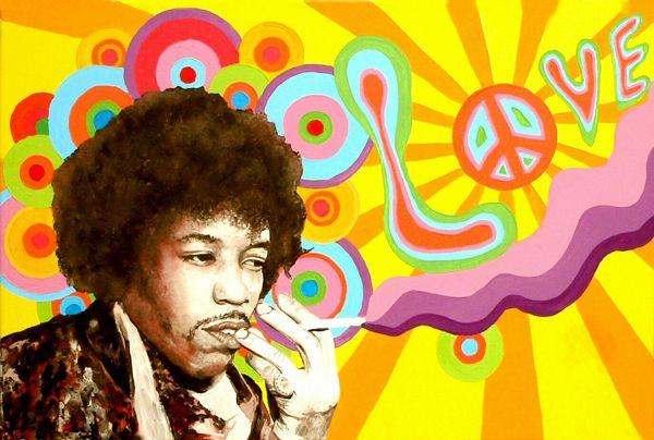 Jimi Hendrix hippie