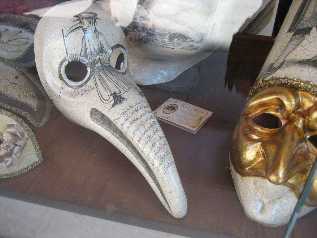 mascara del medico della peste