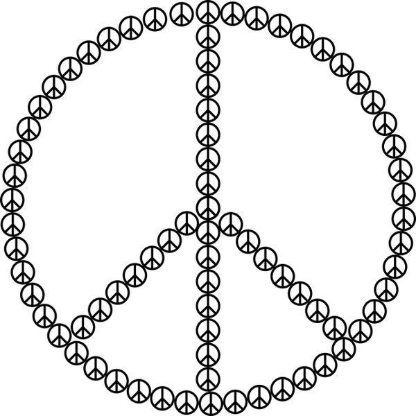 El símbolo de la paz, símbolo hippie