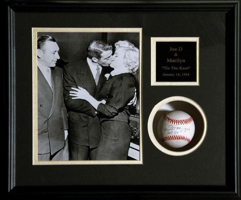 pelota de baseball firmada por Joe DiMaggio y& Marilyn Monroe