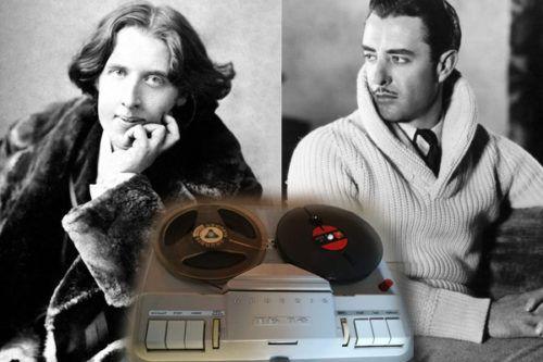 ¿Las voces reales de Rodolfo Valentino y Oscar Wilde?