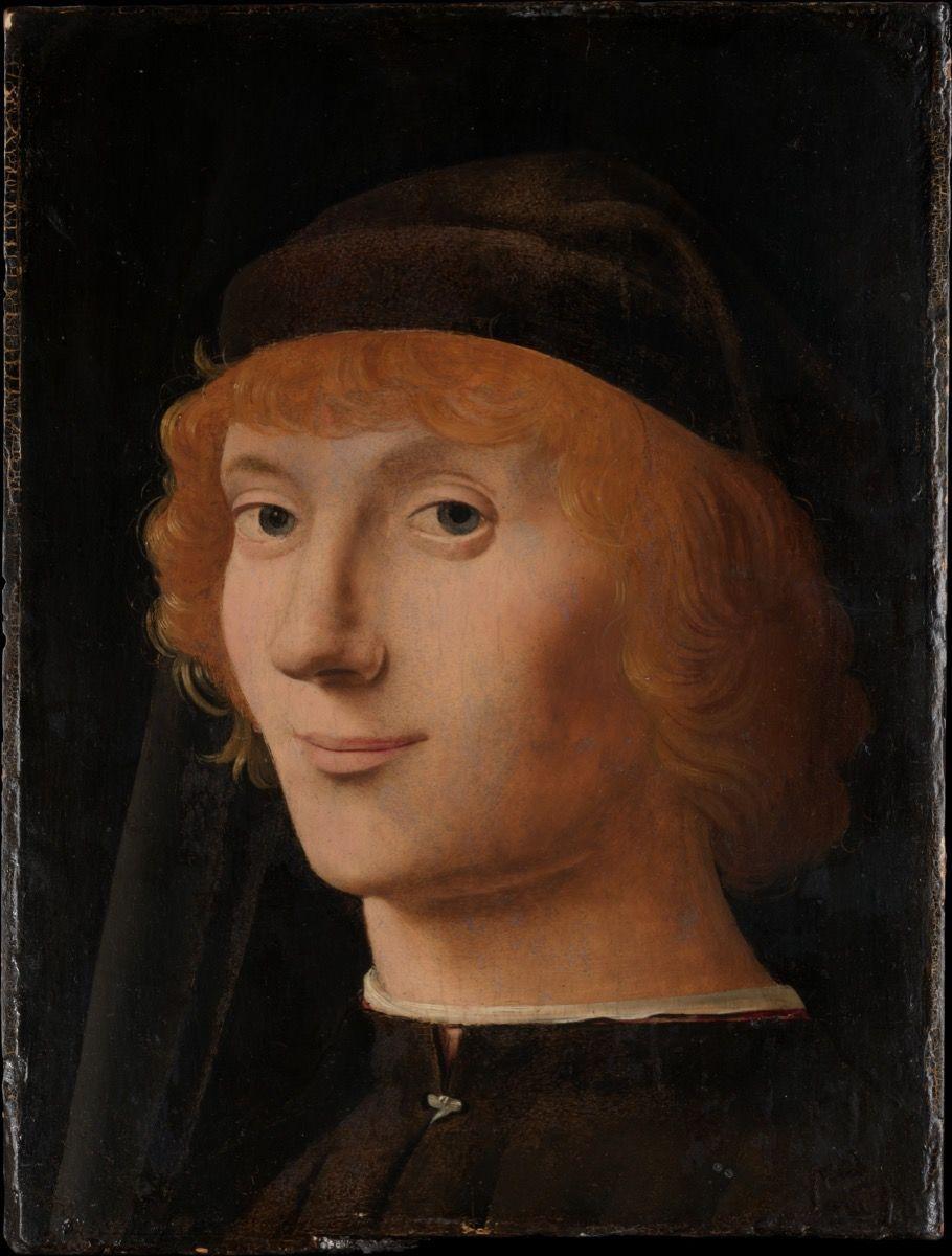 antonello da messina retrato de un hombre joven 1470 metropolitan museum de art actually. Black Bedroom Furniture Sets. Home Design Ideas