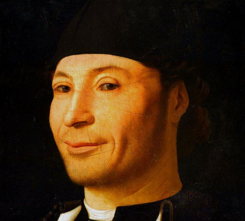 Antonello da Messina, Ritratto d'uomo (Ritratto di ignoto marinaio), 1470 Detalle. Fondazione Culturale Mandralisca, Cefalù