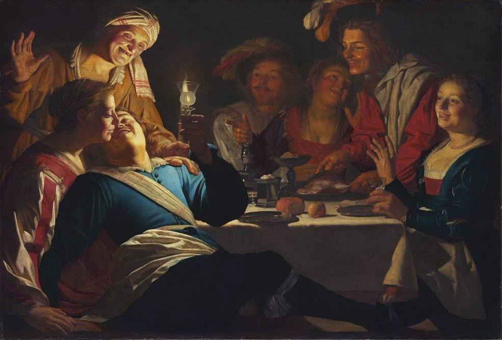 Gerrit van Honthorst. El hijo pródigo. 1623 Alte Pinakothek, Múnich