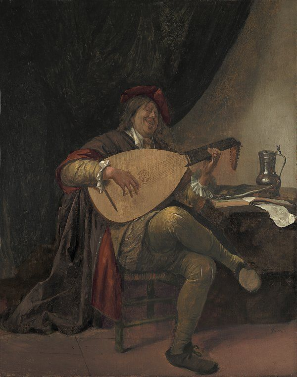 Jan Havicksz. Steen. Autorretrato con Laud. Museo Nacional Thyssen-Bornemisza