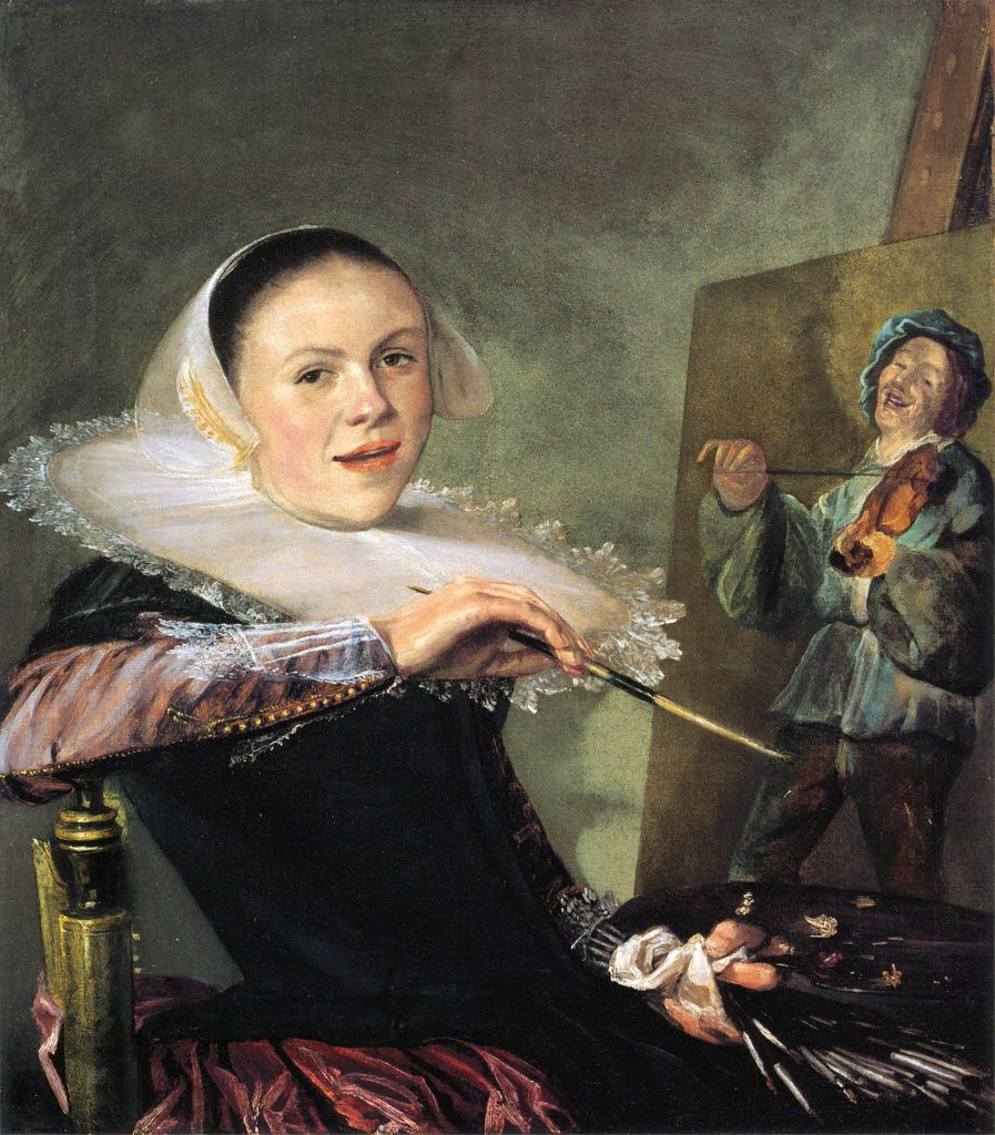 Judith Leyster, autorretrato a los 24 años, 1633, en Galería Nacional de Arte de Washington
