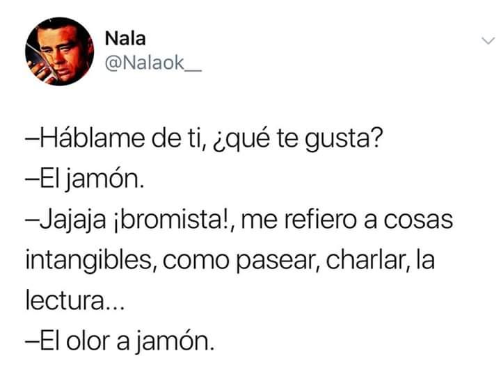 jamon iberico y sentido del humor
