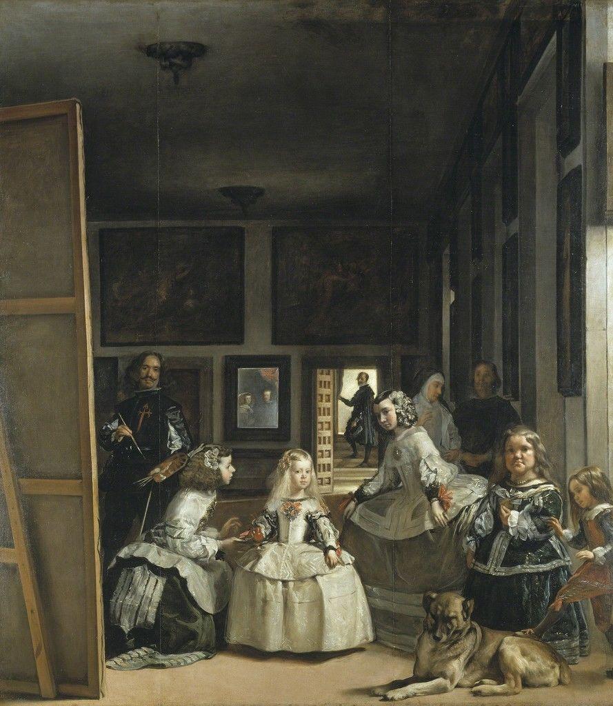 Retrato de la señora emperatriz con sus damas y una enana. Las Meninas