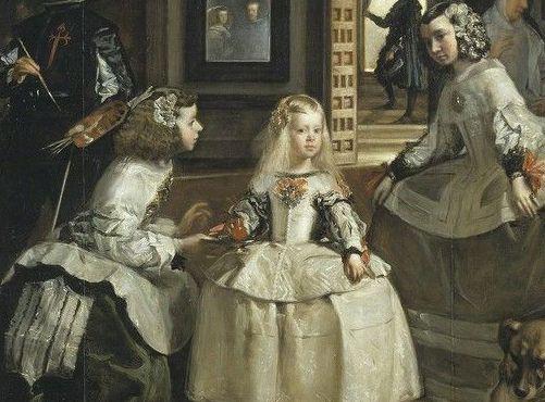 damas de honor en Las Meninas