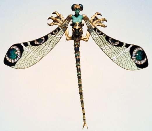 Joya. Libélula diseñada por René Lalique, 1897–98.
