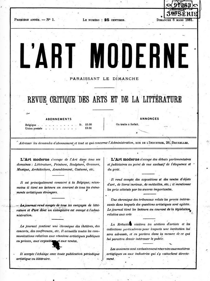el periódico L'Art Moderne
