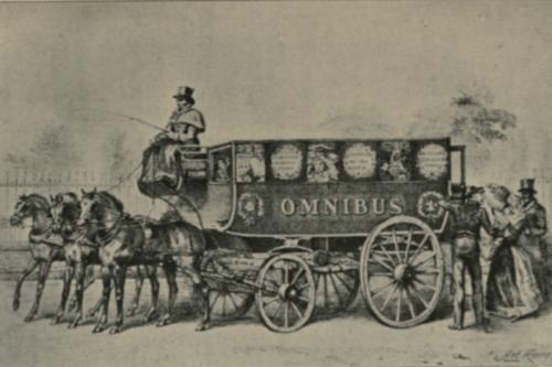 El omnibus, los primeros autobuses de la historia.