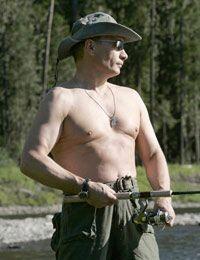 Vladimir Putin luce pecho