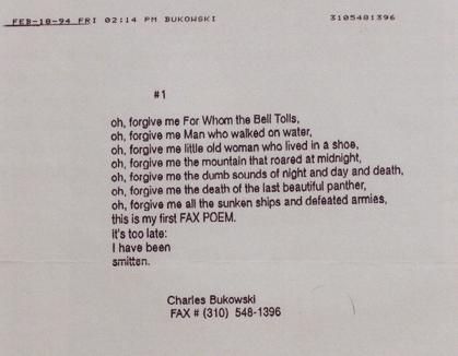 el ultimo poema de Bukowski